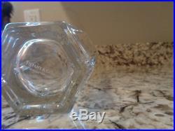 TIFFANY & CO. Crystal vase Frank Lloyd Wright 1986