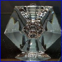 TIFFANY & CO. Lead Crystal FRANK LLOYD WRIGHT 6 Candlestick 1986 Signed