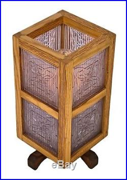 Table Lamp With Custom Built Surround And Original Frank Lloyd Wright Tiles