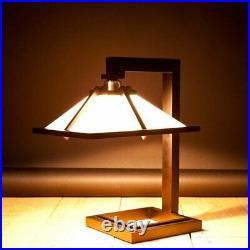 Taliesin 1 Floor Light Desk Lamp Designed by Frank Lloyd Wright Brown H/41