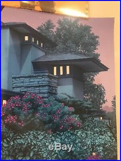 Taliesin East Rory Kurtz silkscreen poster regular x/200 Frank Lloyd Wright MINT