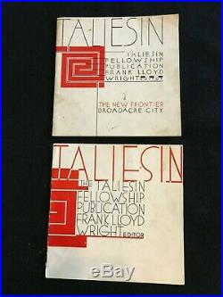 Taliesin Fellowship Publication Frank LLoyd Wright Editor