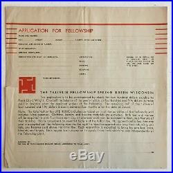 The Taliesin Fellowship Prospectus And Application (1933) Frank Lloyd Wright