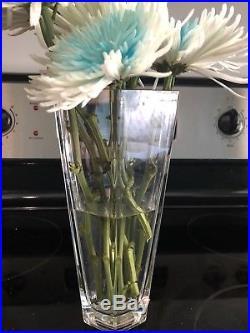 Tiffany & Co Company Frank Lloyd Wright Octagonal Crystal Vase Vintage 1986