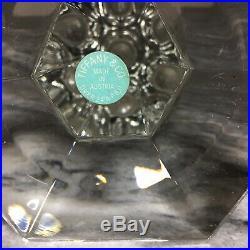 Tiffany & Co Crystal Candlestick by Frank Lloyd Wright FLW 2 Pieces