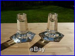 Tiffany & Co Frank Lloyd Wright Crystal Candle Sticks