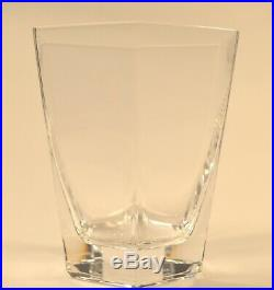 Tiffany & Co Frank Lloyd Wright Double Old Fashioned Hexagon Crystal One Glass