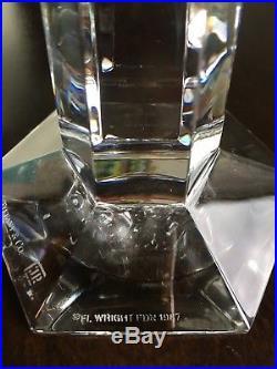 Tiffany & Co Frank Lloyd Wright Single Crystal Candlestick Holder