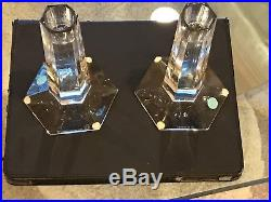 Tiffany Lead Crystal Candlesticks from Frank Lloyd Wright Collection