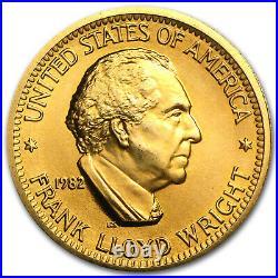 U. S. Mint 1/2 oz Gold Commemorative Arts Medal Frank Lloyd Wright SKU #28950