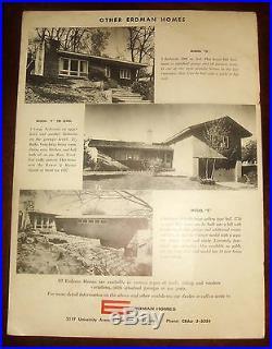Ultra Rare 1955 FRANK LLOYD WRIGHT PRE-FABRICATED HOMES BROCHURE