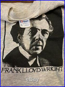 VTG 80s Frank Lloyd Wright Architecture Art Graphic Print Sweatshirt Triblend XL