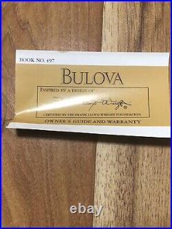 VTG Bulova Ward W. Willits House Watch by FRANK LLOYD WRIGHT (NEEDS NEW BATTERY)