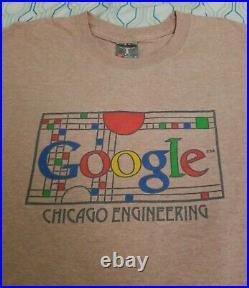 VTG Google Frank Lloyd Wright T Shirt Art Architecture Tech Engineering Medium