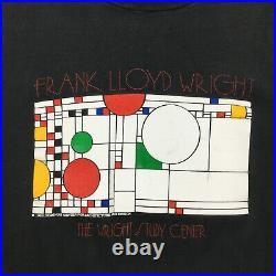 Vintage 1989 Frank Lloyd Wright Study Center t-shirt single stitch made in USA