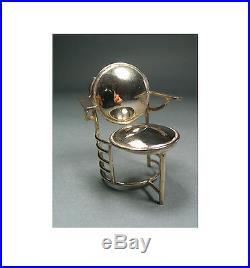 Vintage ACME Studio Mini Sterling Silver FRANK LLOYD WRIGHT Johnson Chair NEW