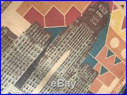 Vintage Architecture Poster Buffalo New York Frank Lloyd Wright Saarinen