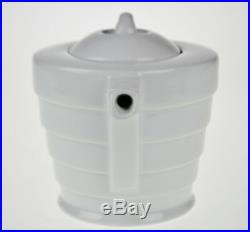 Vintage Art Deco Style Frank Lloyd Wright Guggenheim Spiral Porcelain Teapot