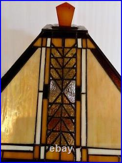 Vintage FRANK LLOYD WRIGHT Mission Style Table Lamp Wood Base 26H