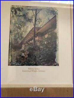 Vintage Framed Frank Lloyd Wright House Architect Print Lithographs Set of 3