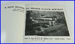 Vintage Frank Lloyd Wright Bear Run Pennsylvania House MOMA Booklet C. 1938