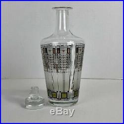 Vintage Frank Lloyd Wright Glass Decanter 1997 Omaggio A Mid Century Modern