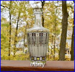 Vintage Frank Lloyd Wright Glass Decanter 1997 Omaggio Mid Century Modern