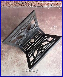 Vintage Frank Lloyd Wright Magazine Rack Style Art Deco Cast Aluminum