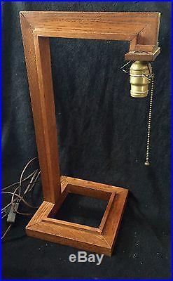 Vintage frank lloyd wright oak wood table lamp with wood and paper vintage frank lloyd wright oak wood table lamp with wood and paper shade aloadofball Gallery