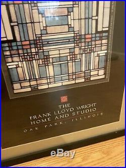 Vintage Frank Lloyd Wright Poster Home And Studio Oak Park Illinois