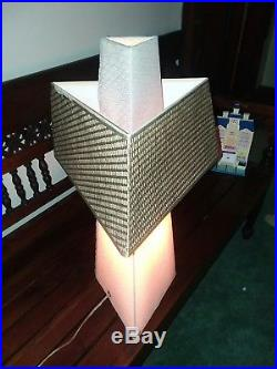 Vintage Frank Lloyd Wright Style Table Triangle Lamp 25 tall