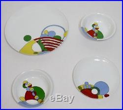 Vintage Tiffany & Co Frank Lloyd Wright Cabaret 2 Plates 2 Bowls Rare Porcelain