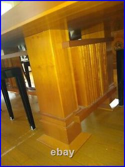Vtg 1986 Frank Lloyd Wright for Cassina Allen Dining Table 10 Robie Tall Chairs