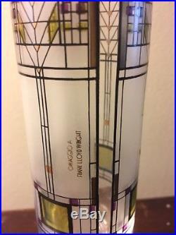 Vtg Frank Lloyd Wright Glass 10 Vase 1997 Omaggio A Mid Century Modern
