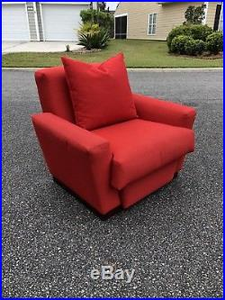 Vtg Frank Lloyd Wright Imperial Hotel Tokyo Red Lounge Chair CASSINA deco mcm