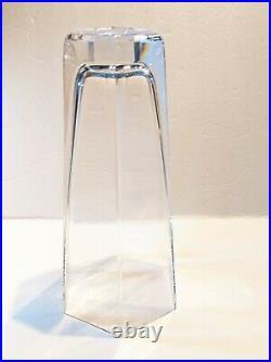 Vtg TIFFANY & Co. Frank Lloyd Wright Foundation 1986 Crystal Vase Retired
