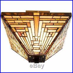 Warehouse Of Tiffany Frank Lloyd Wright Mission Ceiling Lamp TBS2008+D010